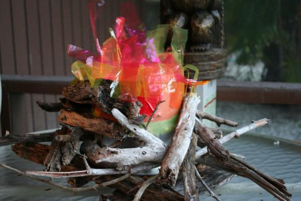 DIY fake survivor tribal council fire