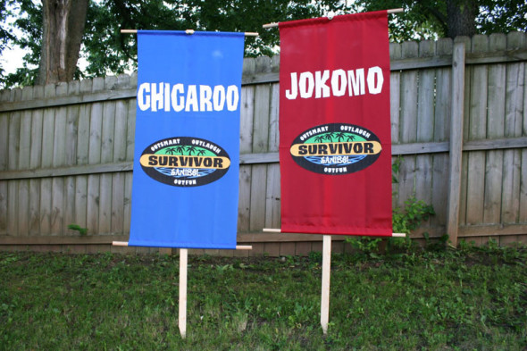 DIY Survivor tribe flags