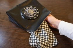 retro rotary phone purse