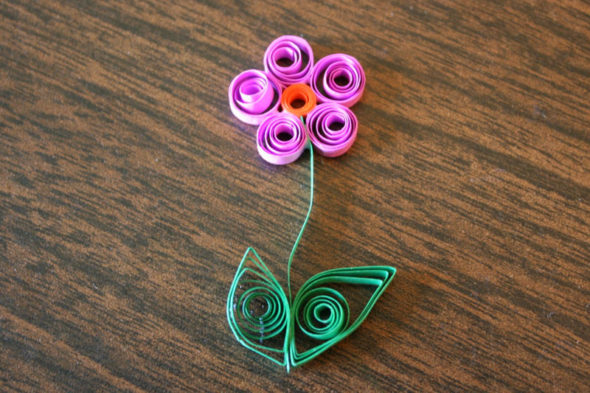 quilled paper Easter eggs flower