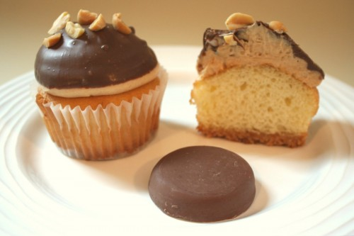 Girl Scout cookie cupcakes - peanut butter patties
