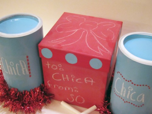 chalkboard gift boxes