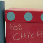 Reusable chalkboard gift boxes