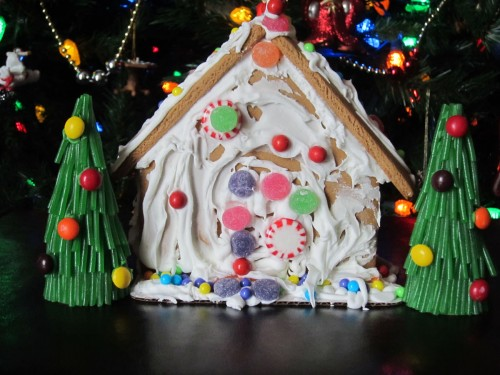 Gingerbread house trees