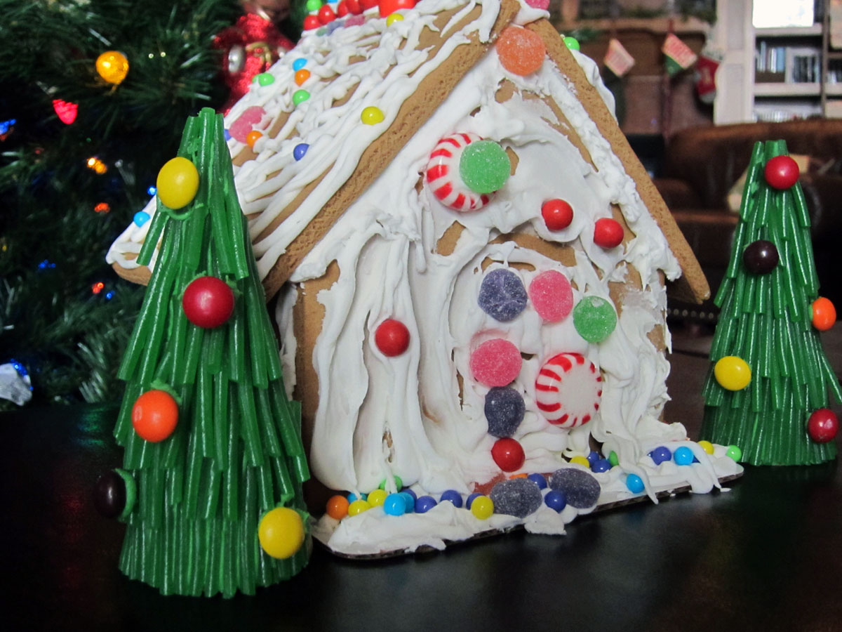 Gingerbread House Trees Chica And Jo