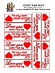 Valentine's Day bag tag template