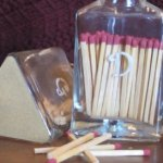Monogrammed matchstick holders
