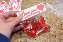 Valentine's Day heart shaped candy