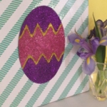 Easter egg canvas using Washi tape