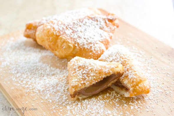 Deep-fried Nutella pockets
