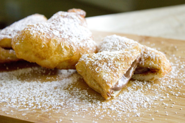 deep fried Nutella pizza pockets recipe