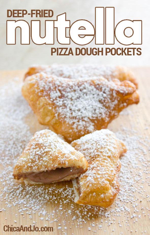 deep fried Nutella pizza pockets recipe