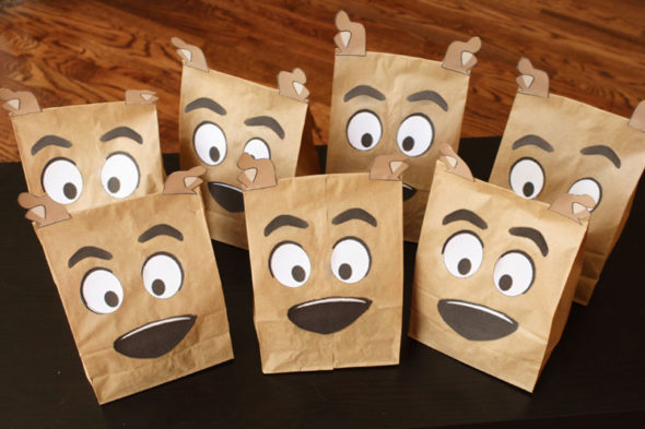Scooby Doo birthday party favor bags