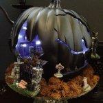 Spooky cemetery pumpkin for Halloween