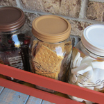 Mason jar storage for s'mores