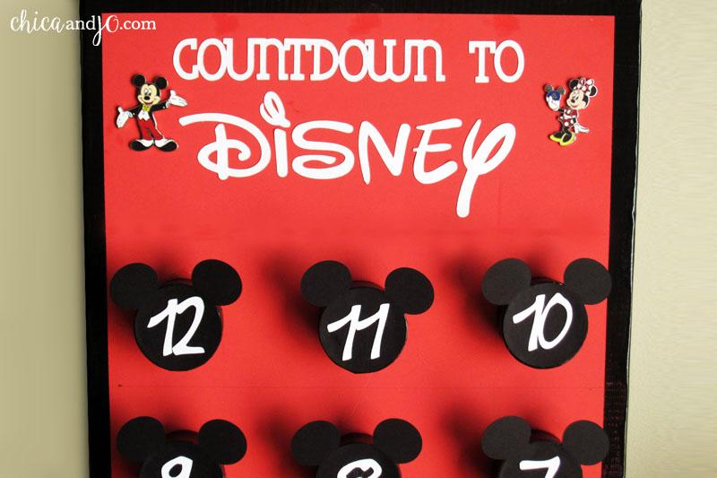 Disney pin trading countdown board