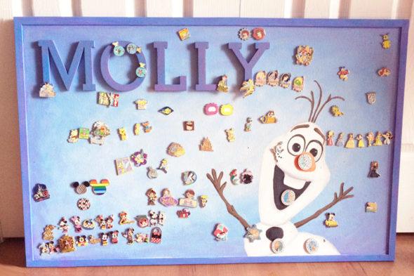 Disney pin trading display board