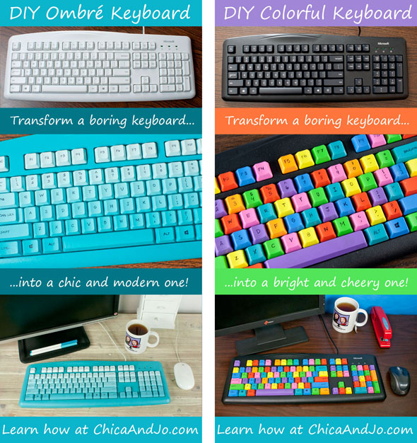 DIY Colorful Computer Keyboard