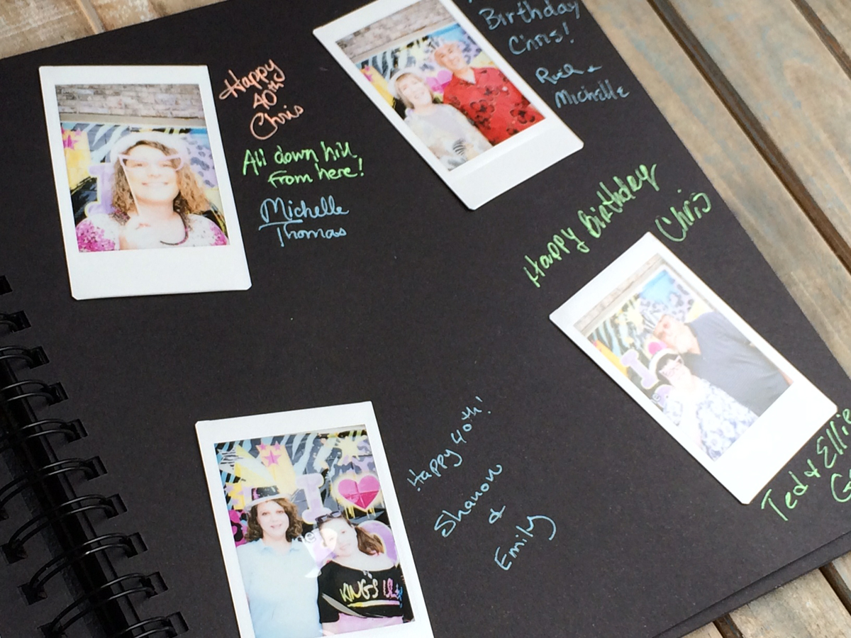 polaroid guest book album chica and jo. Black Bedroom Furniture Sets. Home Design Ideas