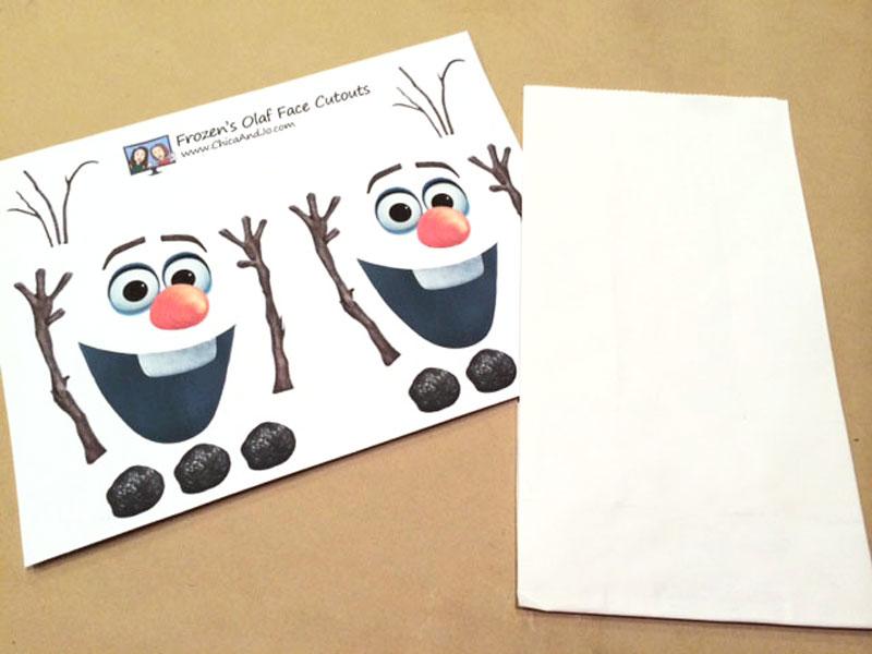 Frozen Olaf Treat Bag Party Favor