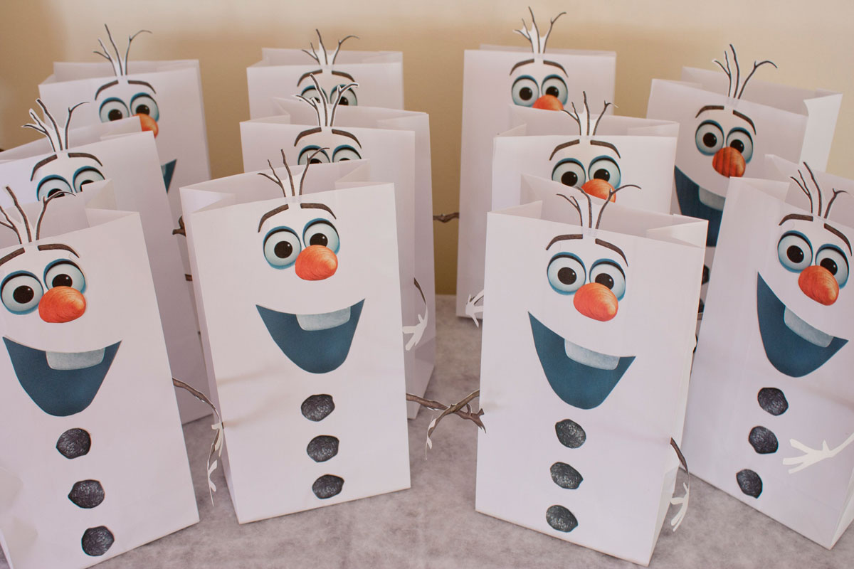 Olaf Cup Party Invitations Ideas Frozen Favor Bags