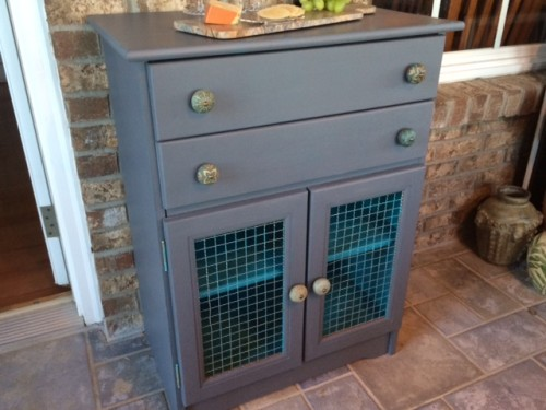 Chalk paint cabinet make-over