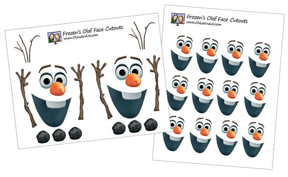 photograph about Olaf Face Printable named Disneys Frozen birthday celebration guidelines Chica and Jo