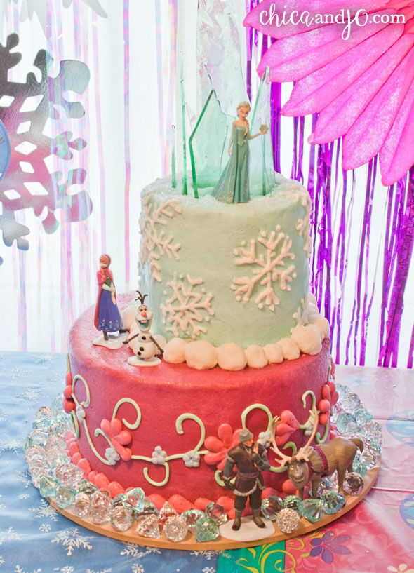 Frozen Cake Topper With Candy Ice Castle Chica And Jo