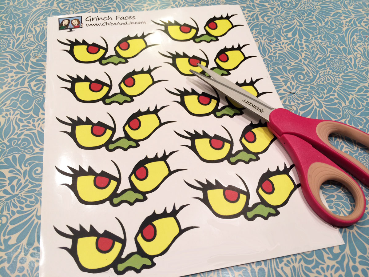 It is a photo of Gorgeous Free Printable Grinch Face Template