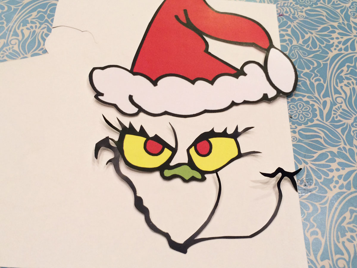 It is a graphic of Effortless Free Printable Grinch Face Template