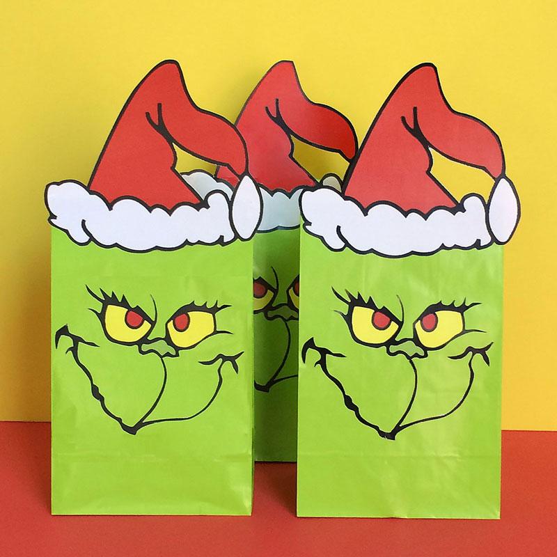 Grinch favor bags