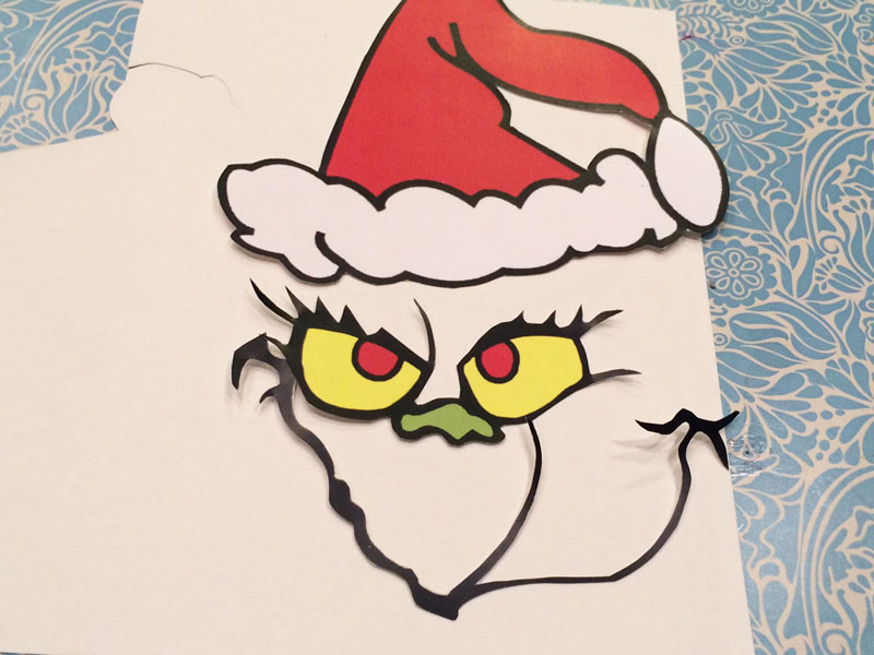 photo about Printable Grinch Face called Grinch desire baggage Chica and Jo