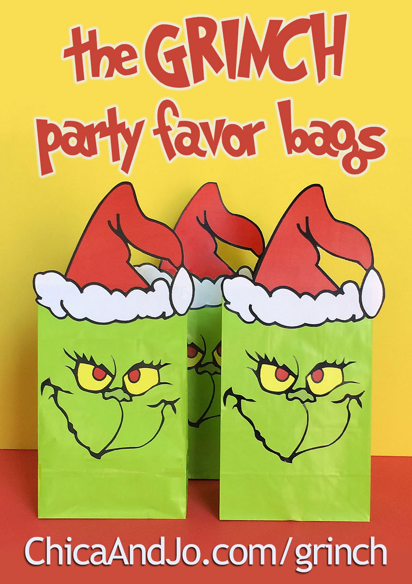 Grinch Favor Bags Chica And Jo