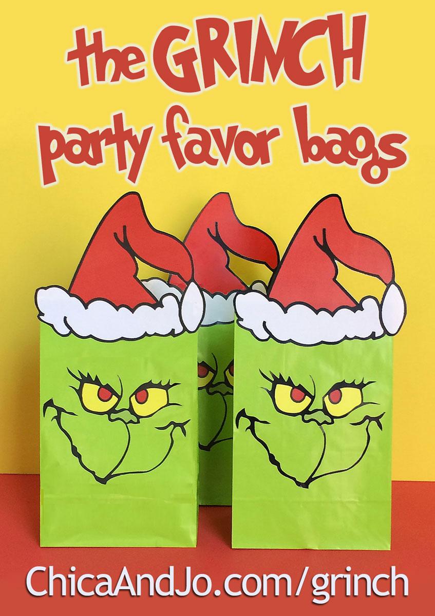 Grinch favor bags | Ch...