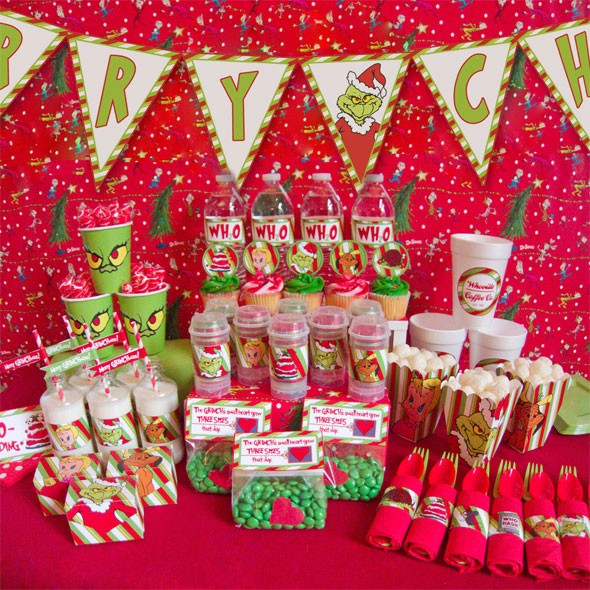 Christmas Party Ideas.Grinch Christmas Party Ideas And Printables Chica And Jo