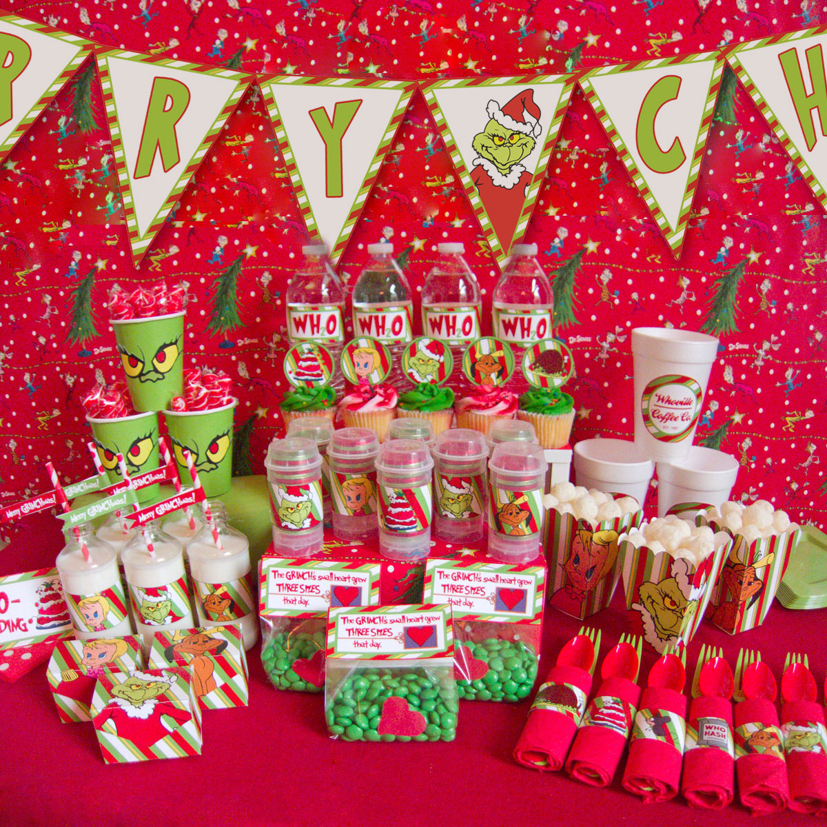Christmas Party Ideas For School Part - 39: Christmas Party Decoration Ideas In School : Grinch Christmas Party Ideas  Chica And Jo