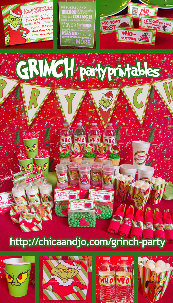 Birthday Calendar Ideas For Classroom : Grinch christmas party ideas chica and jo