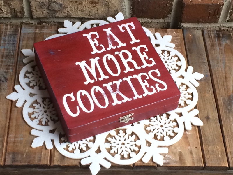 Christmas cookie gift container