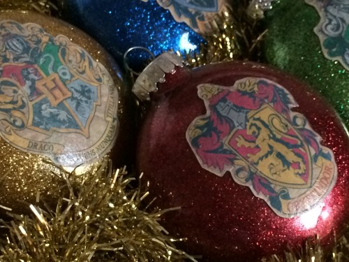 Harry Potter glitter ornaments