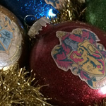 Harry Potter glitter ornaments