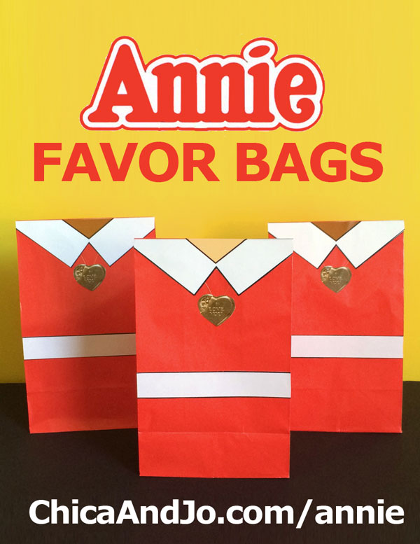 Annie movie party favor bags | Chica and Jo