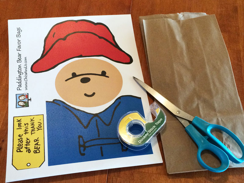 Paddington Bear Party Favor Bags Chica And Jo
