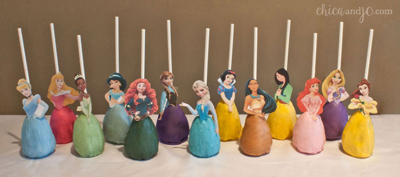 Disney Princess cake pops Chica and Jo