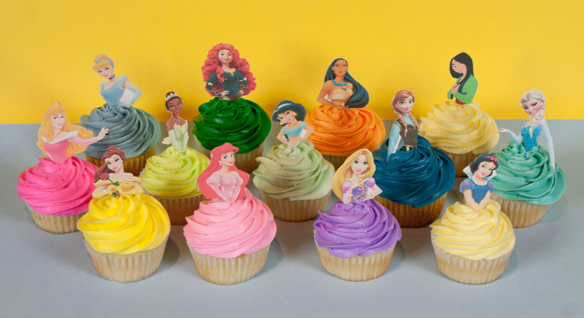 Princess Cupcake Images : Disney Princess Cupcake Toppers Related Keywords - Disney ...