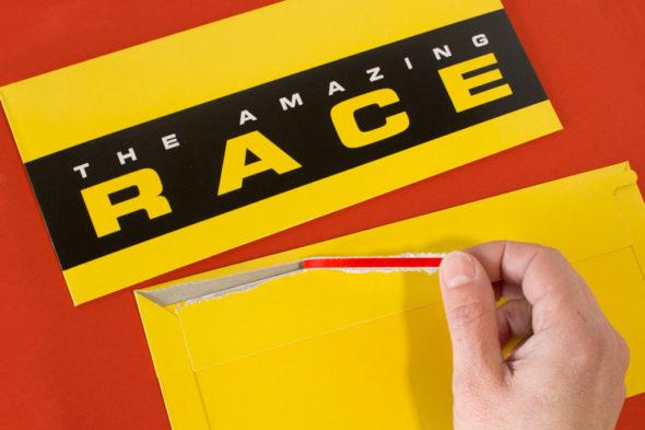 Amazing Race Tear Strip Envelopes