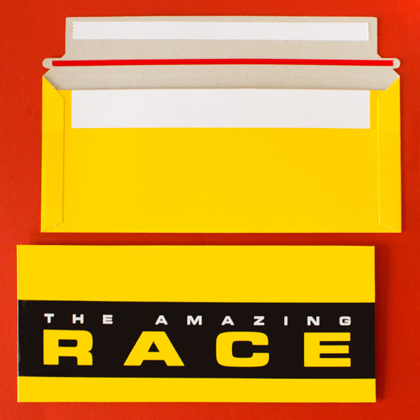Where To Amazing Race Tear Strip Envelopes