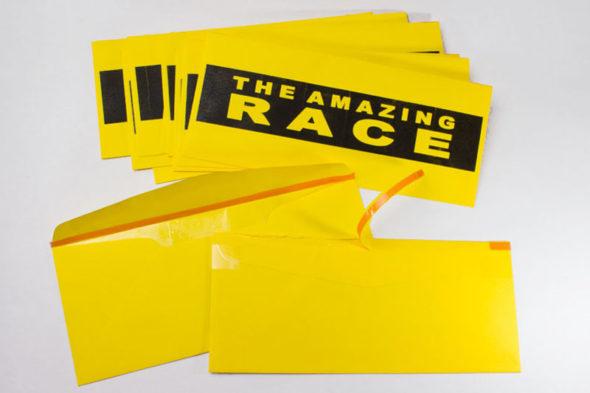 DIY The Amazing Race tear-strip envelopes