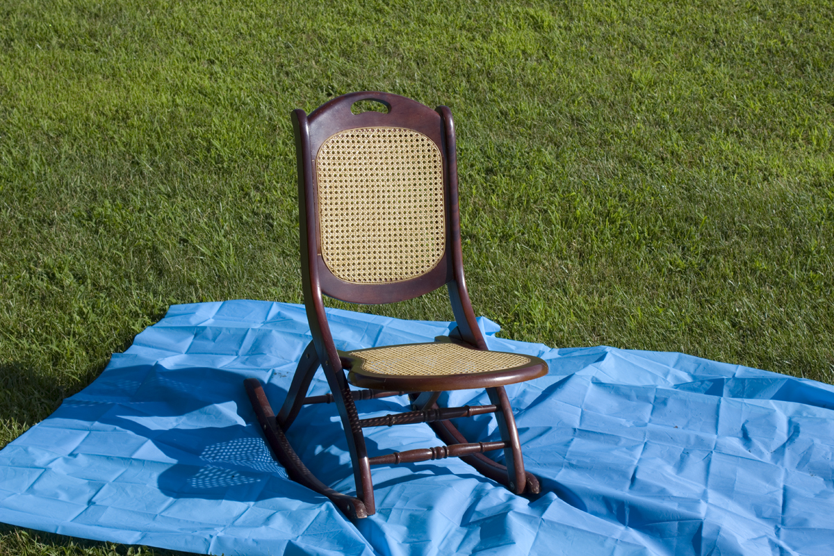 Amazing photo of Chalk Paint Rocking Chair with #02427C color and 1200x800 pixels