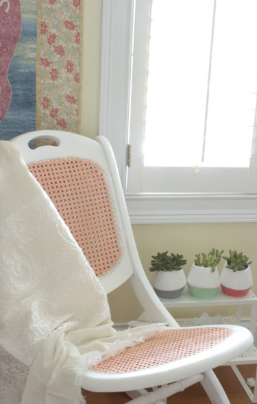 Chalky Finish Rocking Chair Refurbish Chica And Jo