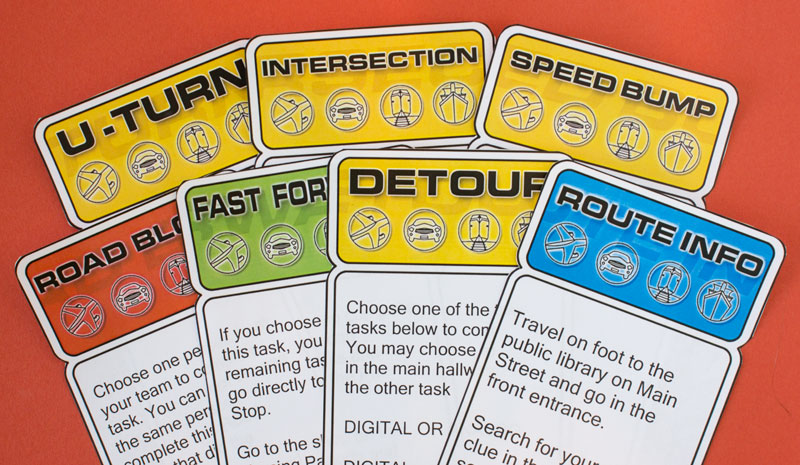 photo regarding Printable Clue Game Cards named Remarkable Race occasion printables Chica and Jo